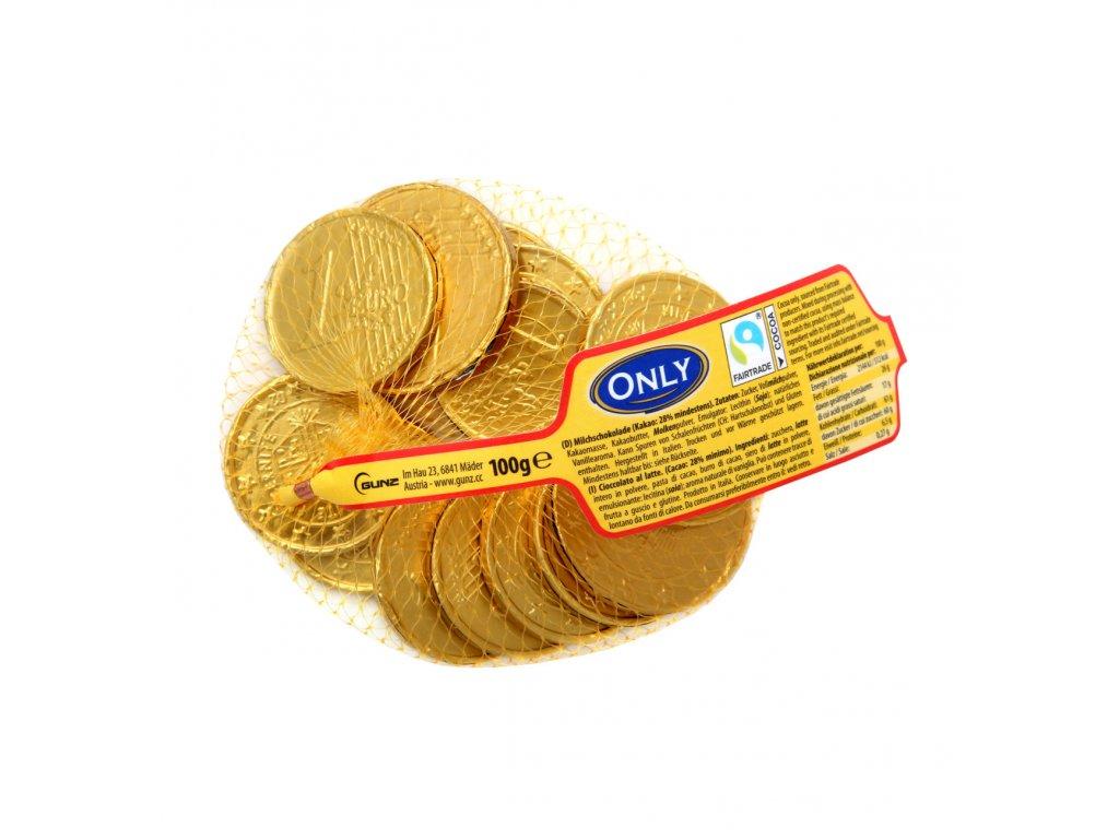 Only Čokoládové zlaté mince v síťce 20 ks, 100g