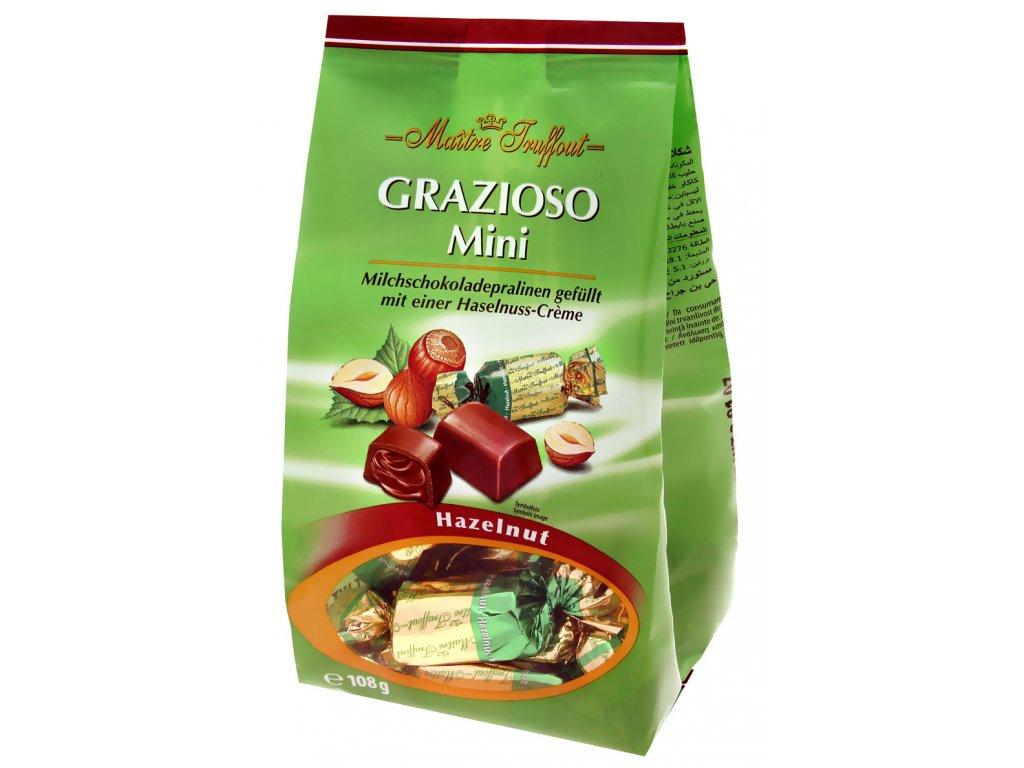 Truffout Grazioso mléčné pralinky plněné oříškovým krémem 108g