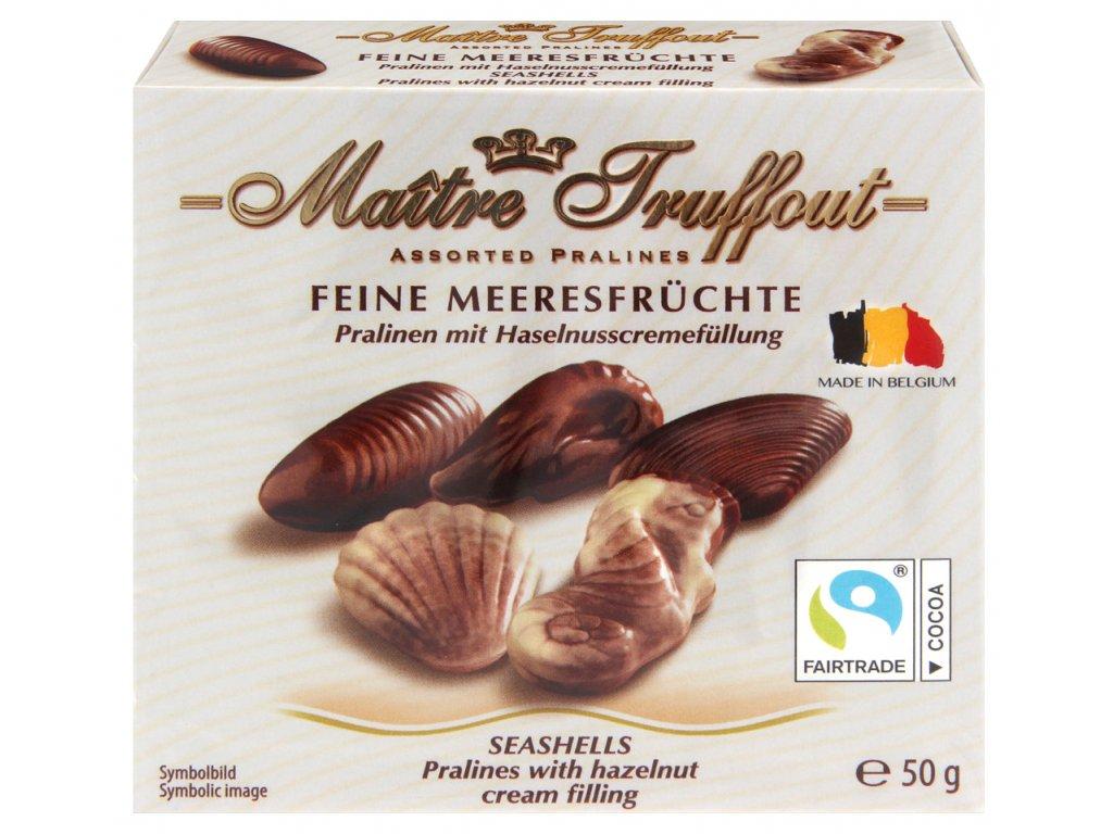 Maitre Truffout mořské plody s lískooříškovou náplní 50g