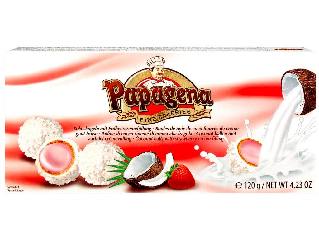Papagena Kokosové kuličky s jahodovou náplní 120g