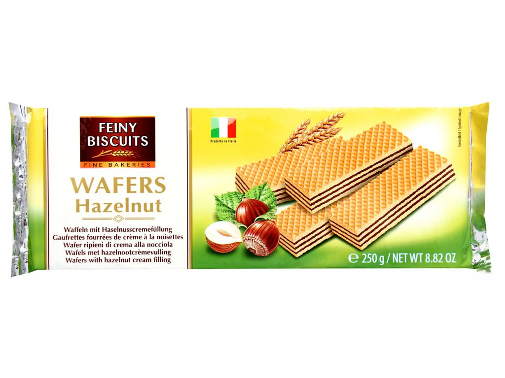 Biscuit Vaflové oplatky s krémovou náplní z lískových oříšků 250g