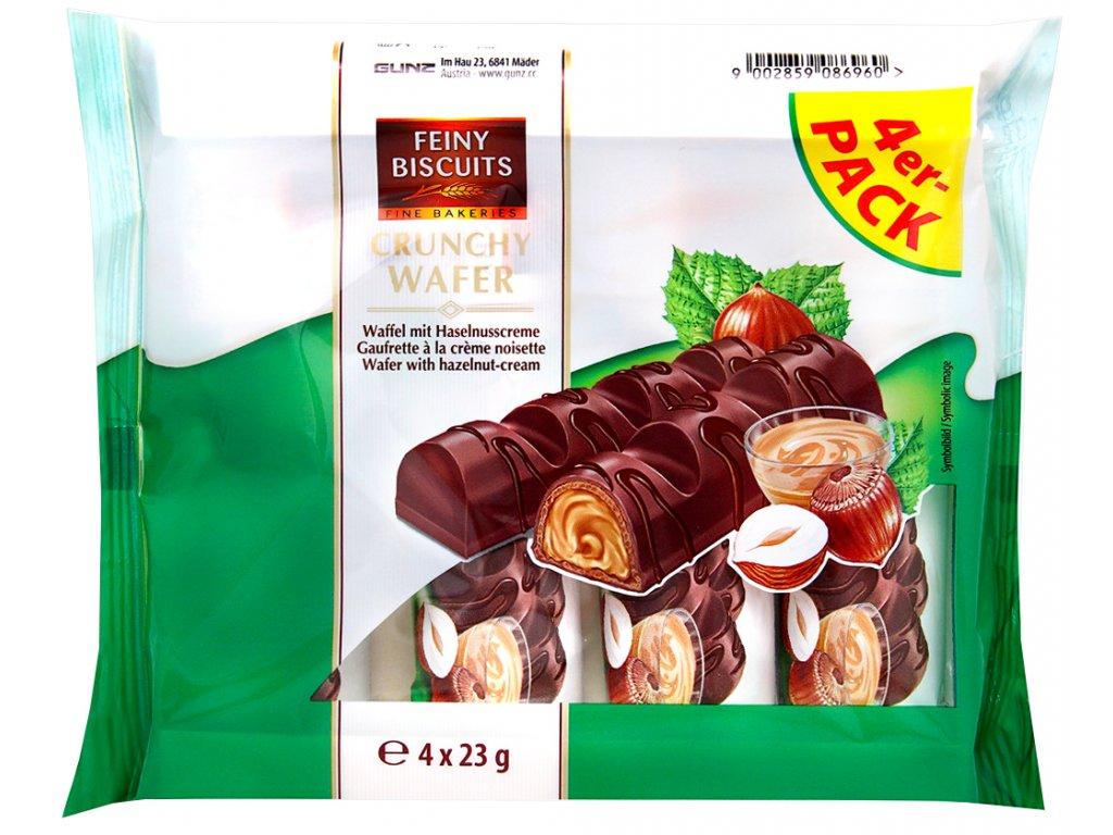 Oplatky s čokoládovou polevou a mléčnou lískooříškovou náplní 4x23g
