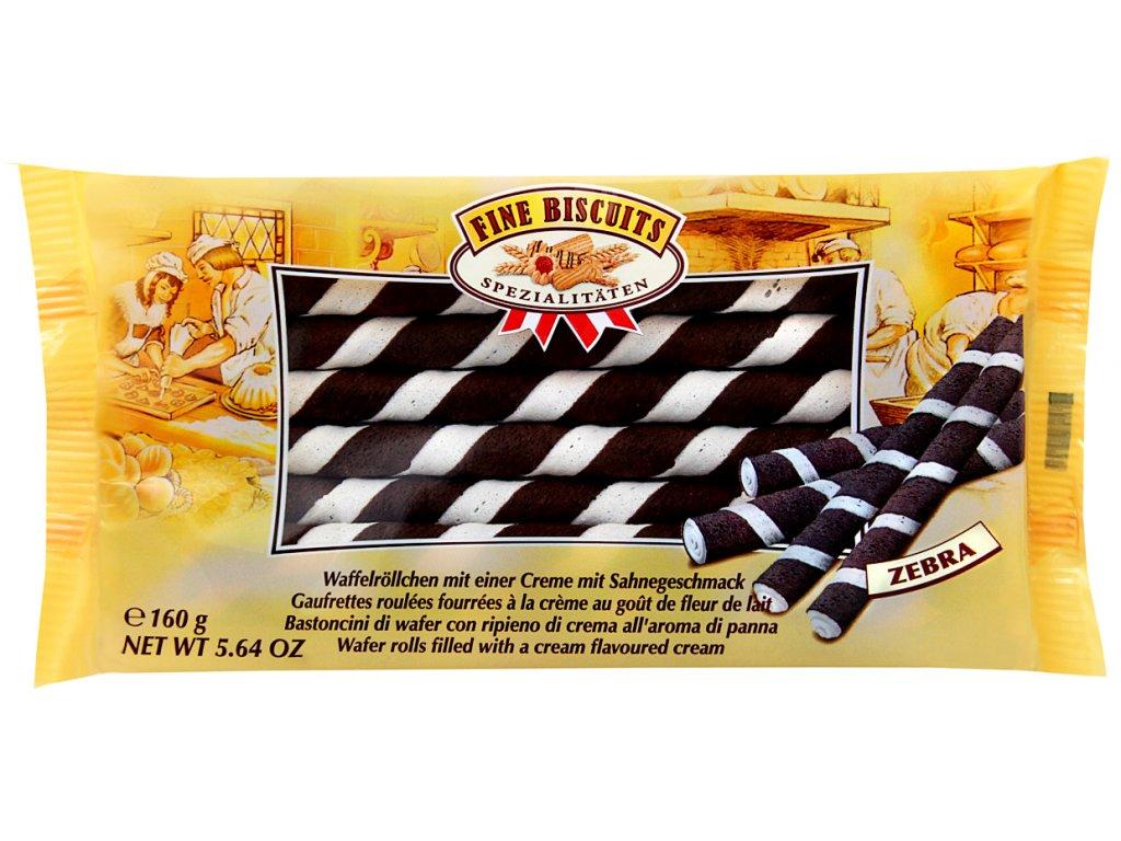 Biscuit trubičky plněné kakaovým krémem zebra 160g