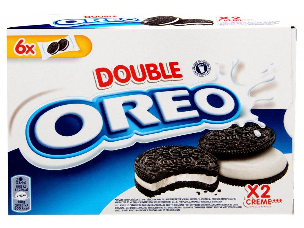 Oreo double kakaové sušenky s vanilkovým krémem 170g