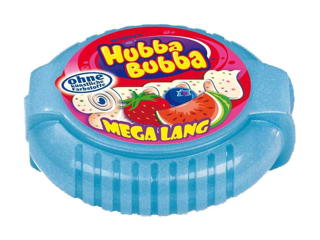 Hubba Bubba Tape Triple Mix meloun, jahoda, borůvky 56g