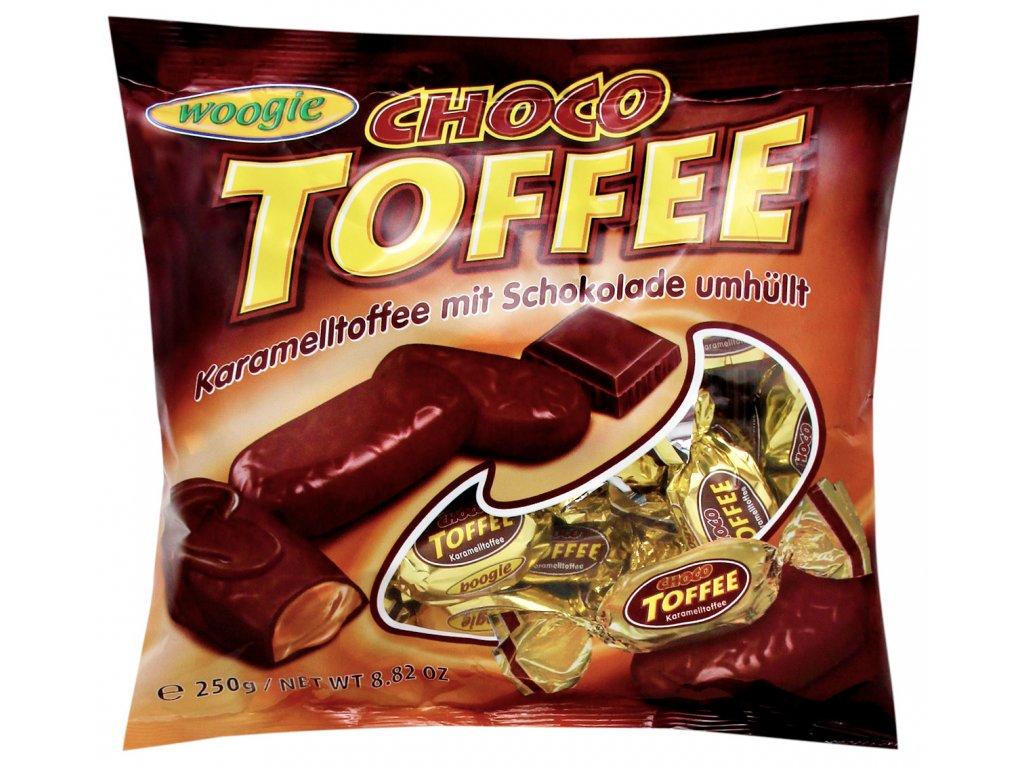 Woogie Choco Toffee bonbony v čokoládě 250g