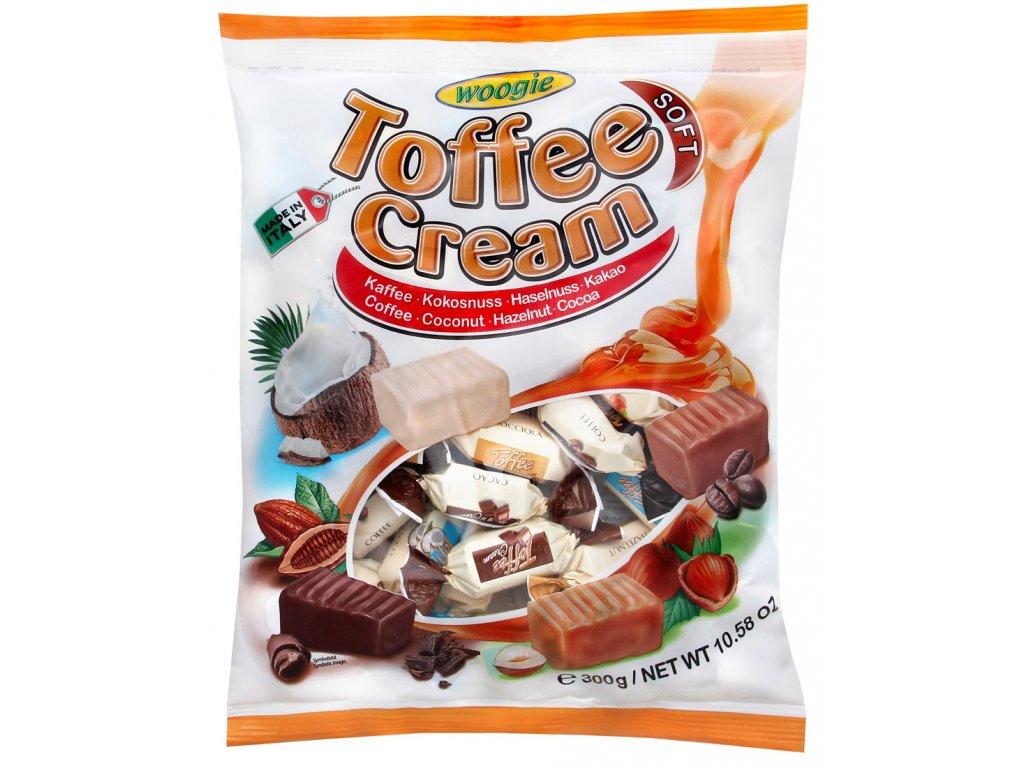 Woogie Toffee Cream Soft mix karamelových bonbonů 250g