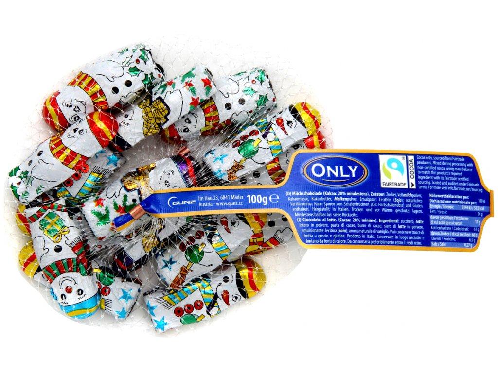 Only Sněhuláci z mléčné čokolády, sáček 100g