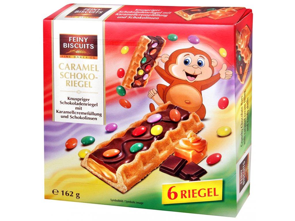 Biscuits Křupavé čokoládové tyčinky s karamelem a lentilkami 162g