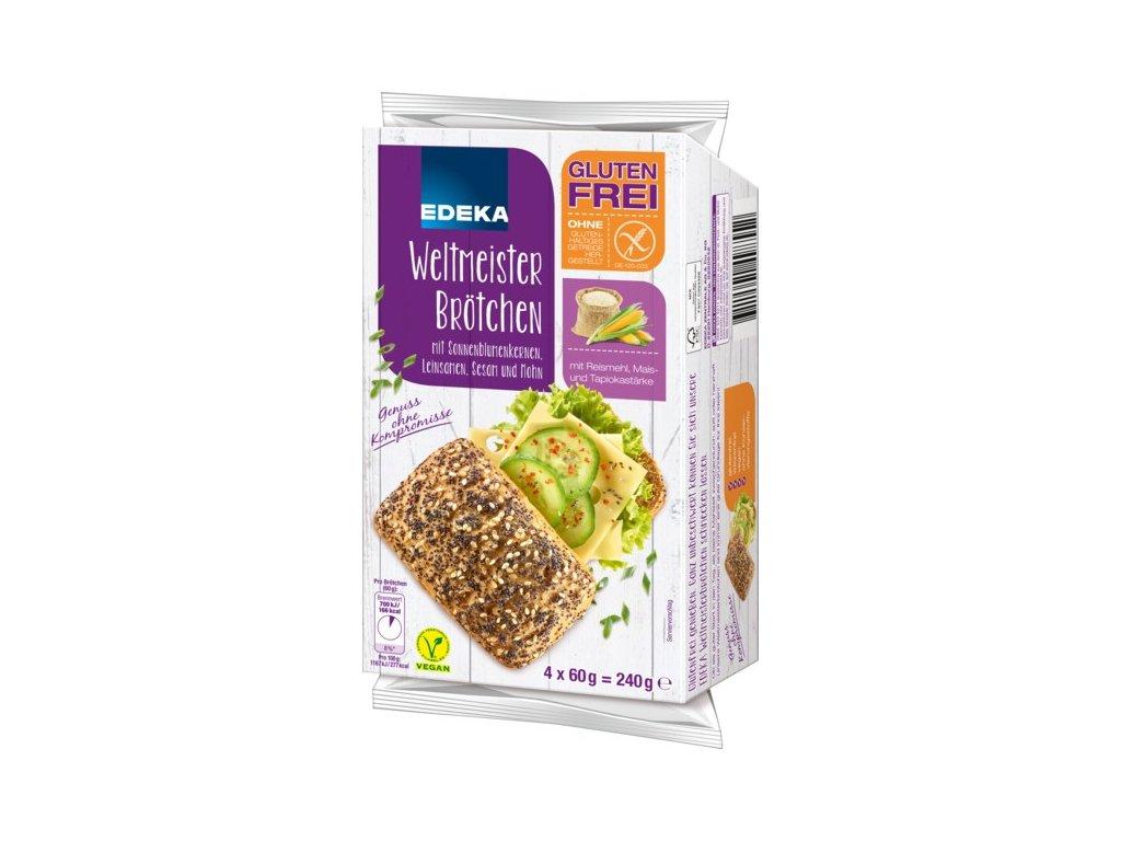 Edeka bezlepkové houstičky se semínky k dopečení, 240 g