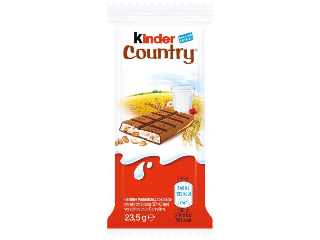 Kinder Country čokoláda s mléčnou náplní a obilovinami 23,5g