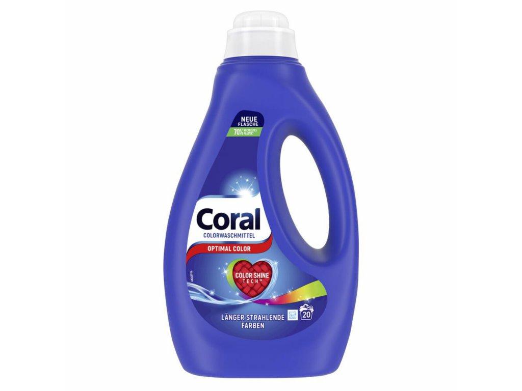 Coral Optimal Color prací gel 1l, 20 dávek pracích dávek