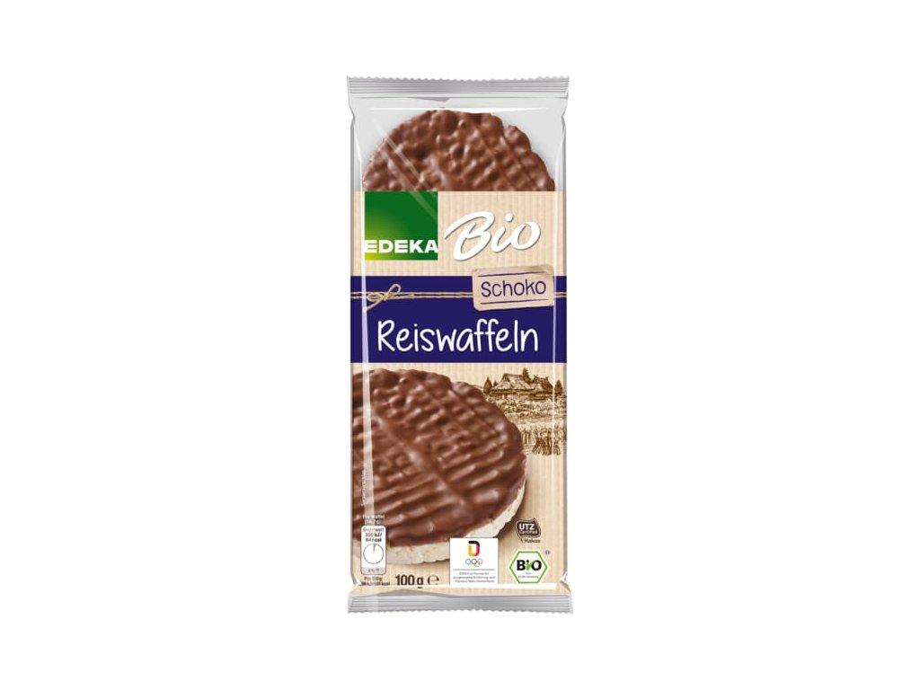 Edeka Rýžové chlebíčky s čokoládovou polevou 100g