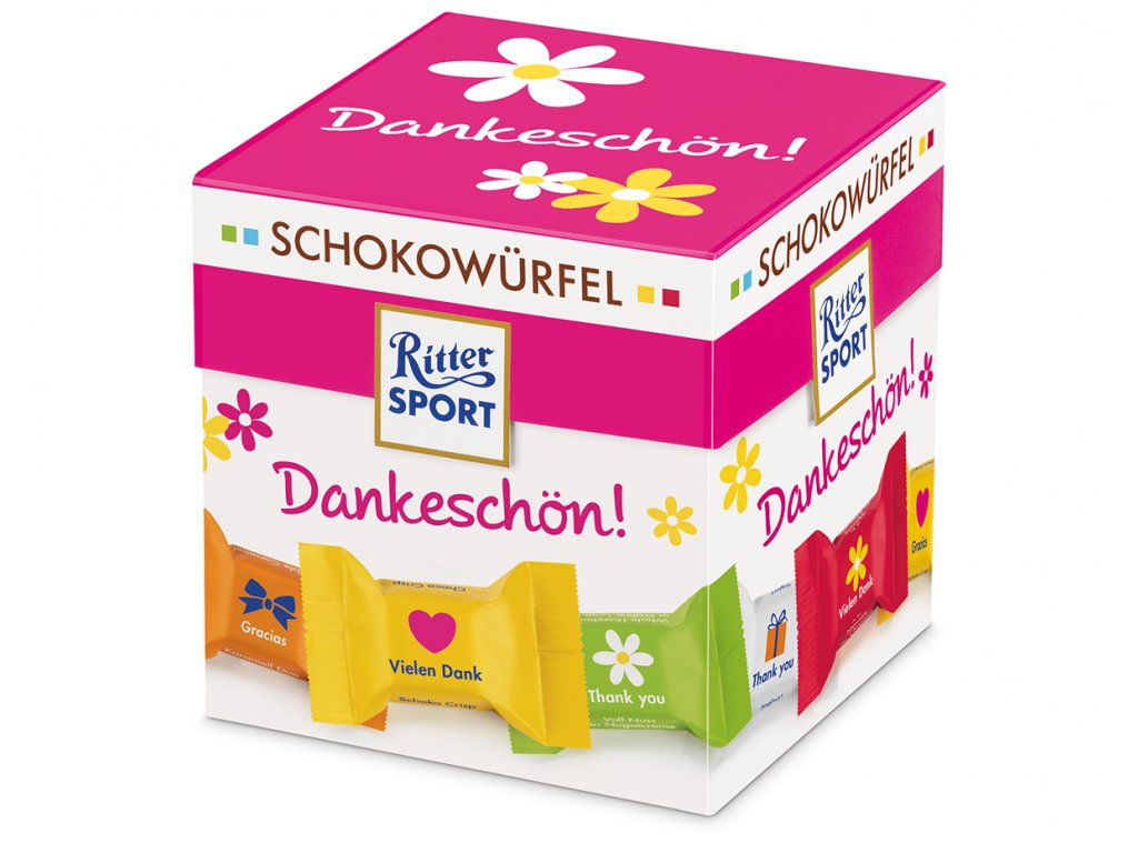 Ritter Sport čokoládová kostka Dankeschön 150g
