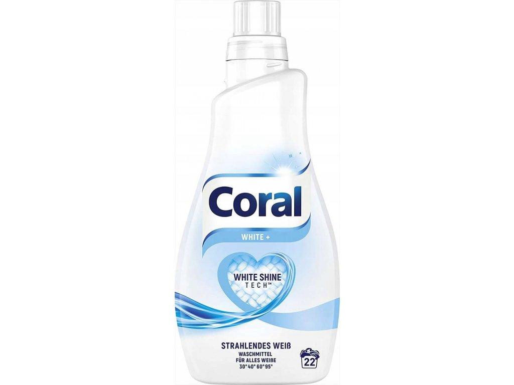 Coral Optimal White Prací gel na bílé prádlo 22 dávek 1,1l