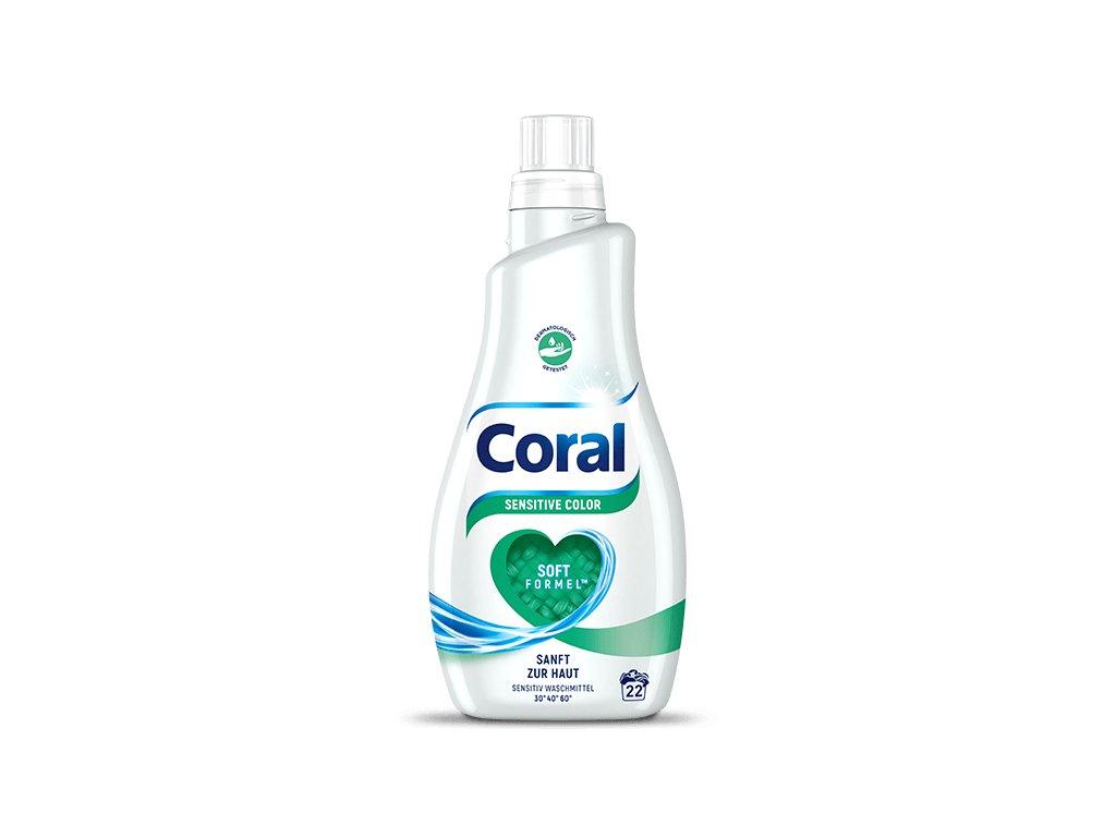 Coral Sensitive prací gel pro citlivou pokožku 1,1 L, 22 dávek