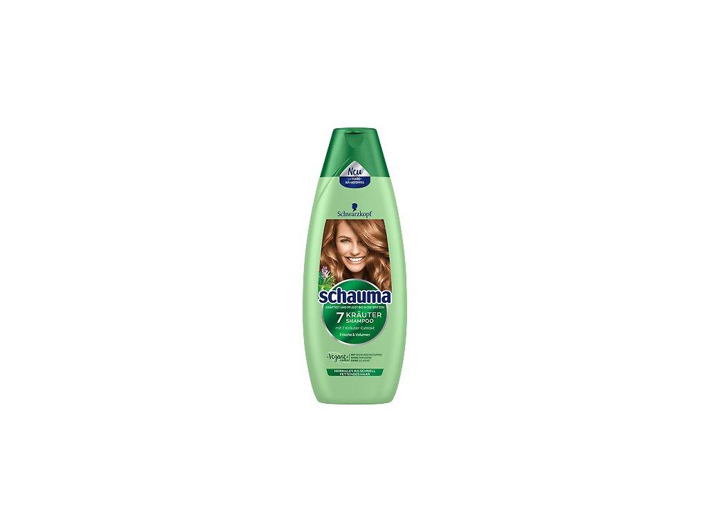 Schauma XL 7 bylin šampon pro normální a mastné vlasy 480 ml