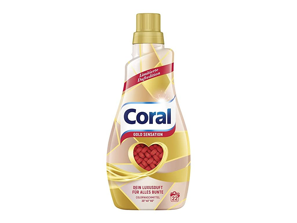 Coral Color Gold Sensation prací gel 1,1l, 22 pracích dávek
