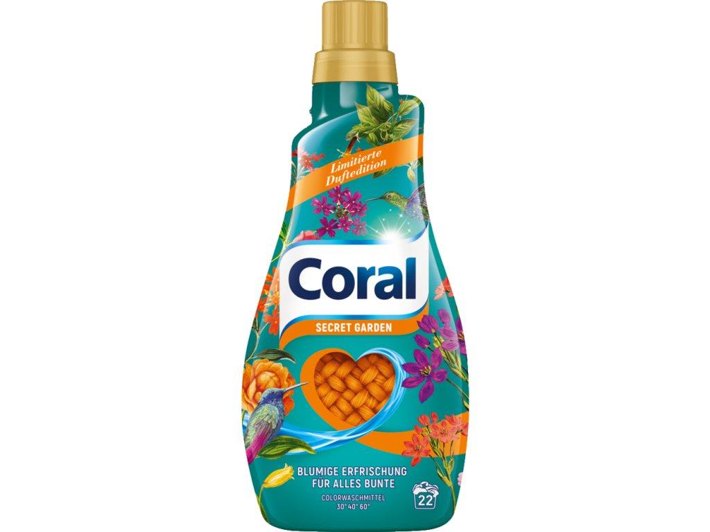 Coral Color Secret Garden prací gel 1,1l, 22 pracích dávek