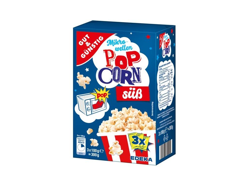 G&G Popcorn do mikrovlnky sladký 3x 100g, 300g