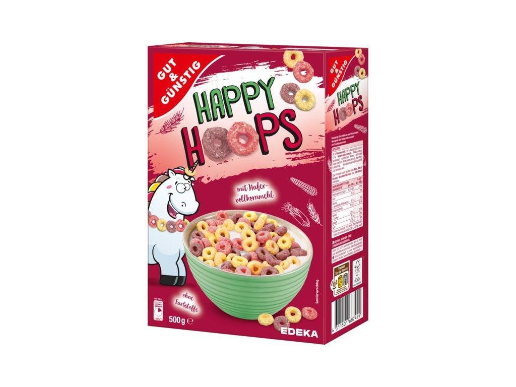 G&G HAPPY HOOPS celozrnné ovesné kroužky 750g