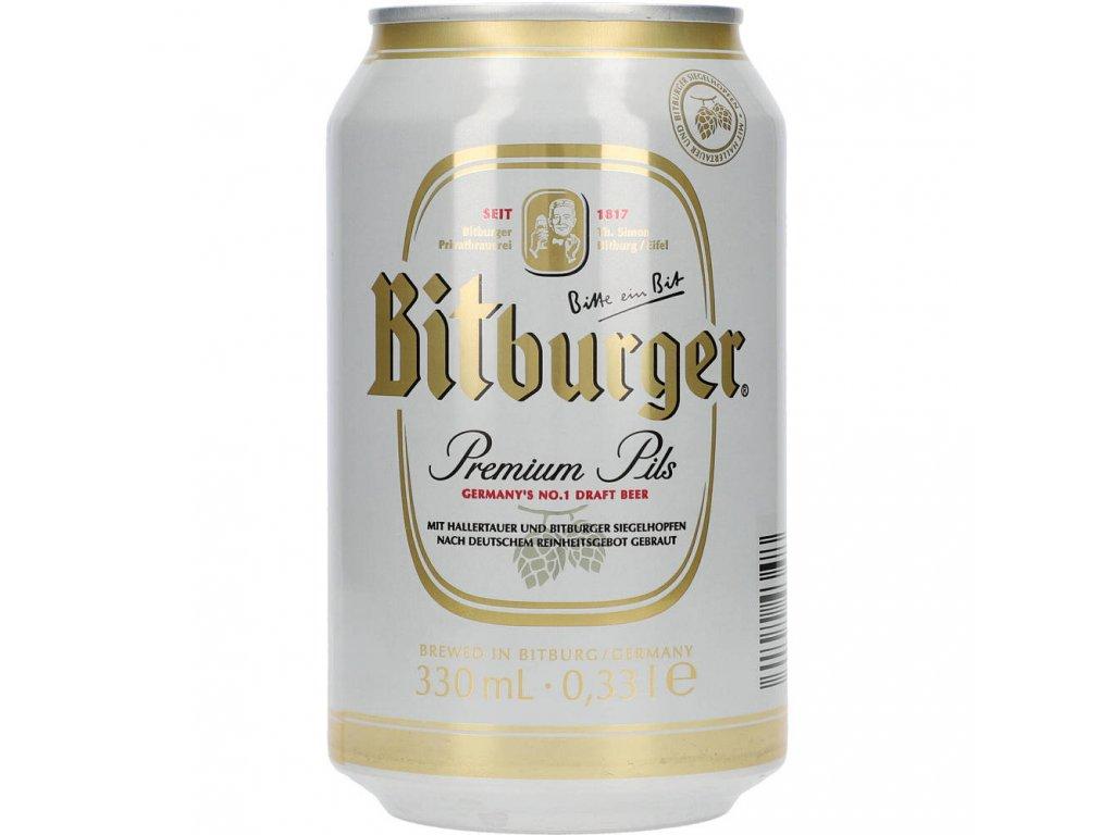 Bitburger Premium Pils 4,8%, 0,33l