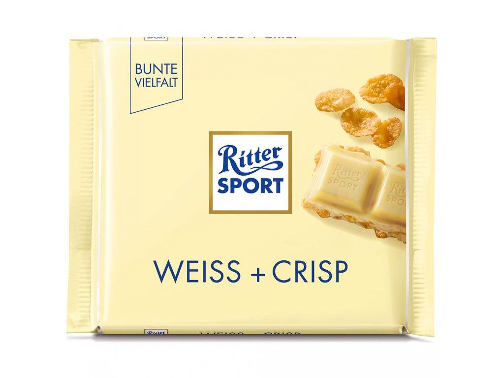 Ritter Sport bílá čokoláda s křupinkami 100g
