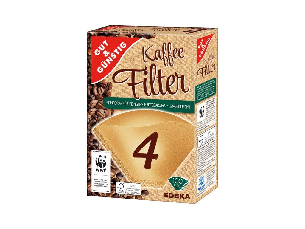 G&G Filtry do kávovarů velikost 4, 100ks  - originál z Německa