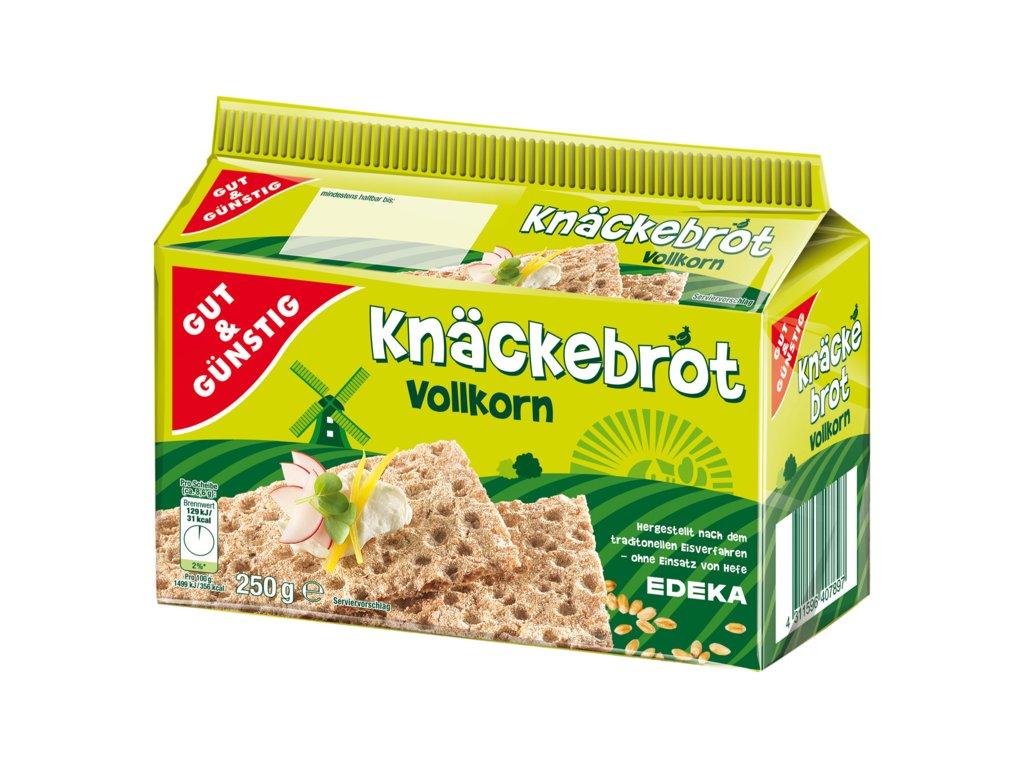 G&G Knäckebrot celozrnný žitný 250g  - originál z Německa