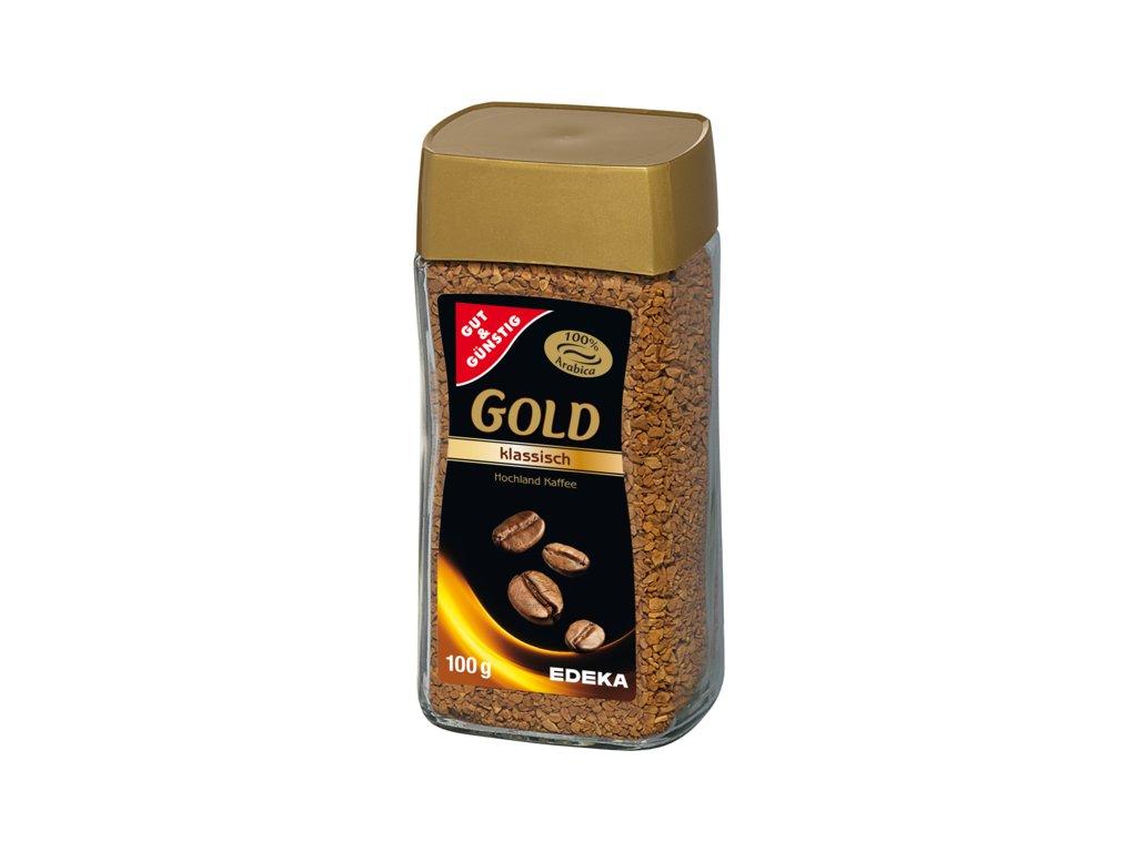 G&G Gold rozpustná káva 100% arabica 100g  - originál z Německa