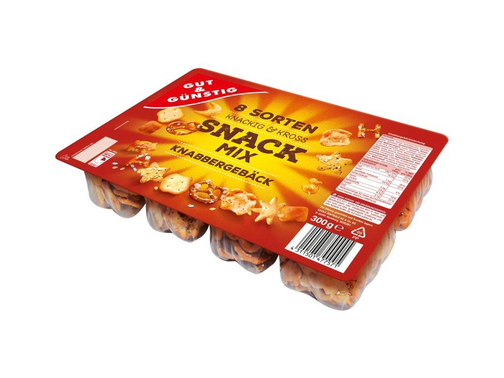 G&G Snack Mix - 8 druhů slaného pečiva 300g  - originál z Německa