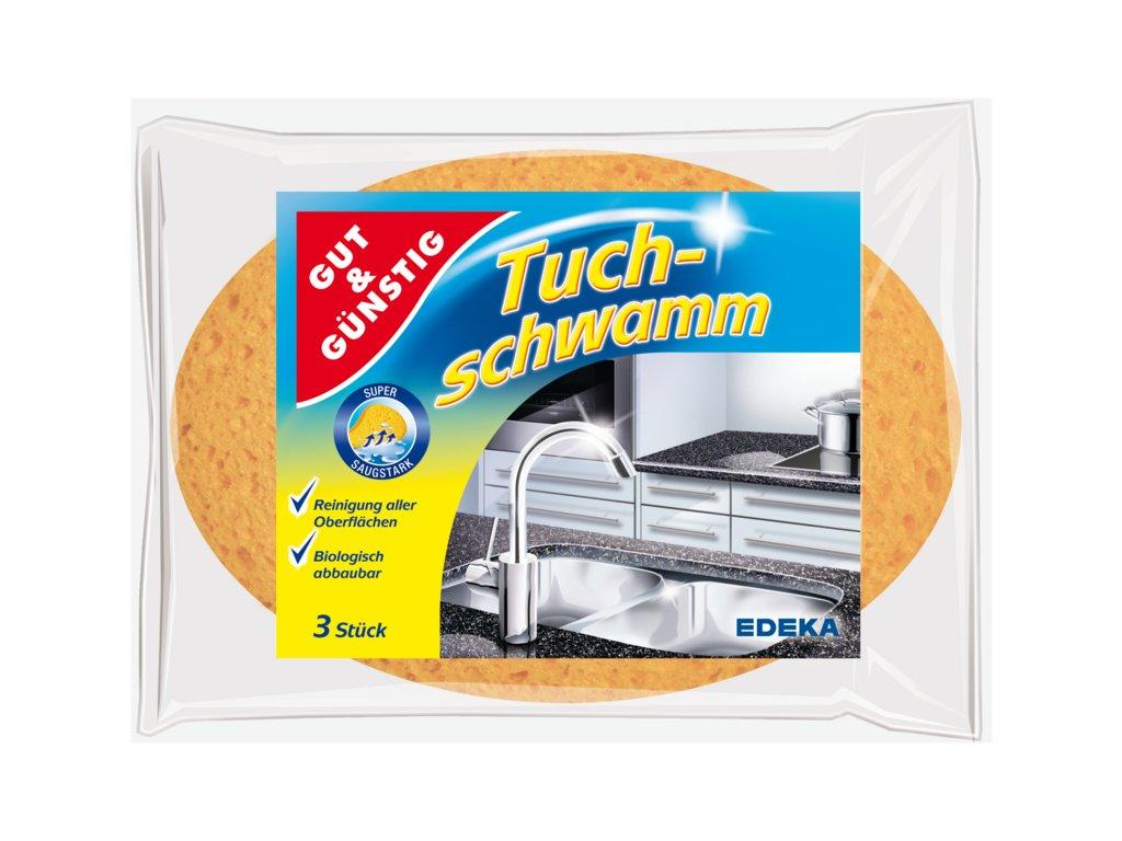 G&G Tuchschwamm houbičky z přírodního materiálu 3ks  - originál z Německa