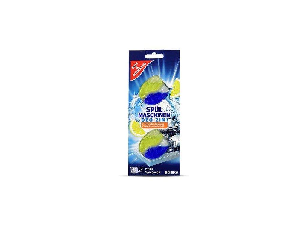 G&G Osvěžovač do myčky nádobí 2v1 s vůní citrusů 2ks  - originál z Německa