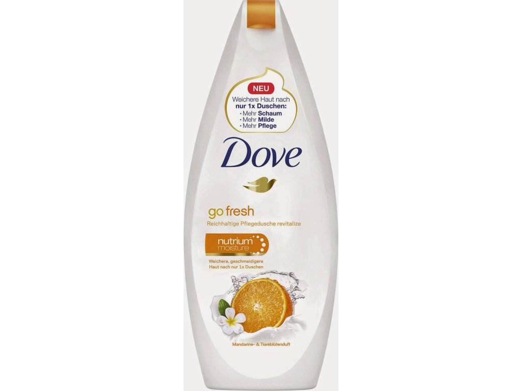 Dove Go fresh mandarinka a květy tiaré sprchový gel 250ml