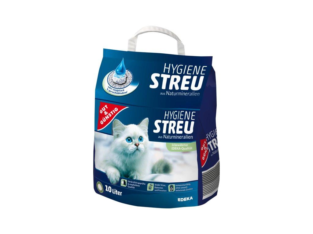 G&G Stelivo pro kočky, hygienické z přírodních minerálů 10l  - originál z Německa