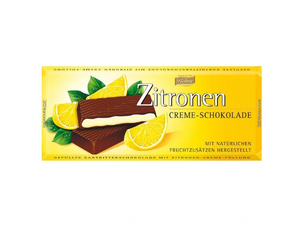 Böhme Krémová čokoláda s přírodní citrónovou náplní 100g  - originál z Německa