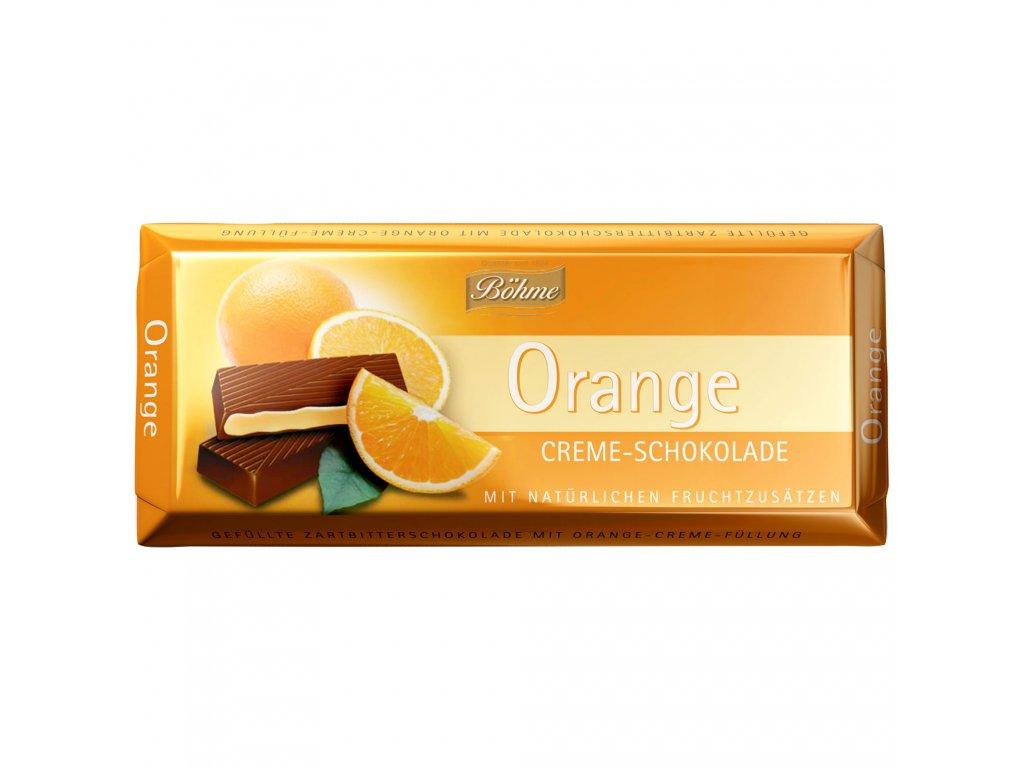 Böhme Čokoláda s přírodní pomerančovou náplní 100g  - originál z Německa
