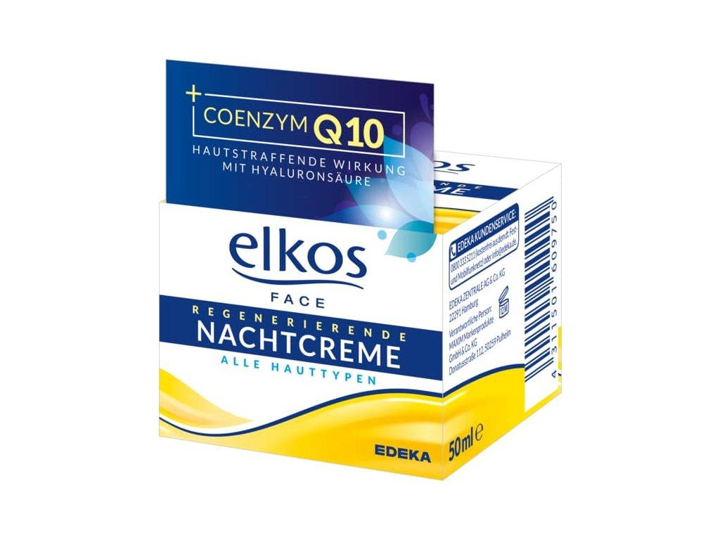 Elkos Noční krém proti vráskám s koenzymem Q10 50ml