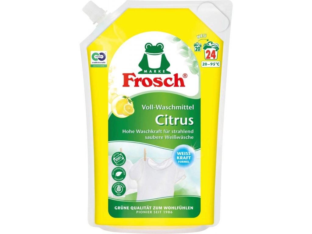 Frosch prací gel na bílé prádlo se silou citrusů 1,8 l, 20 dávek