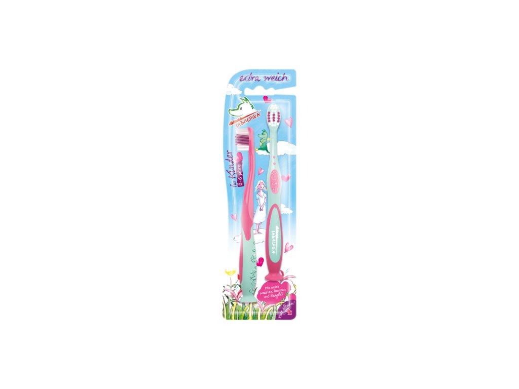 Tabaluga Kartáček na zuby pro děti extra měkký, pro dívky 2 ks