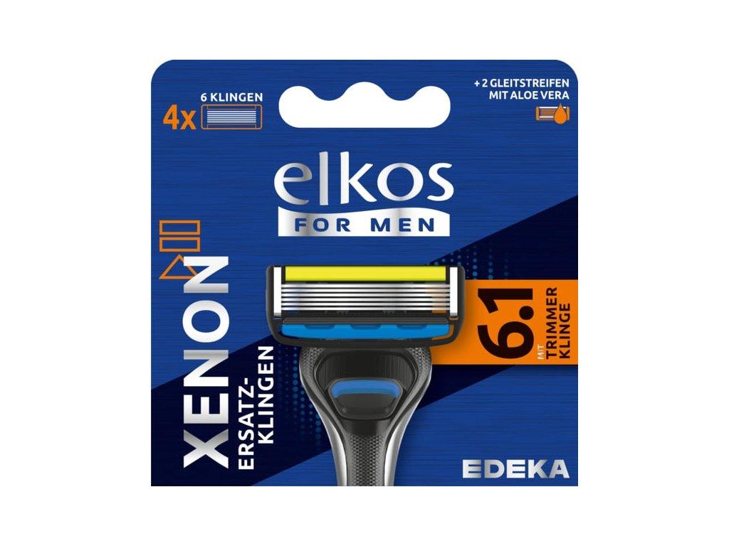 ELKOS MEN XENON Premium Náhradní holicí hlavice, 4 ks
