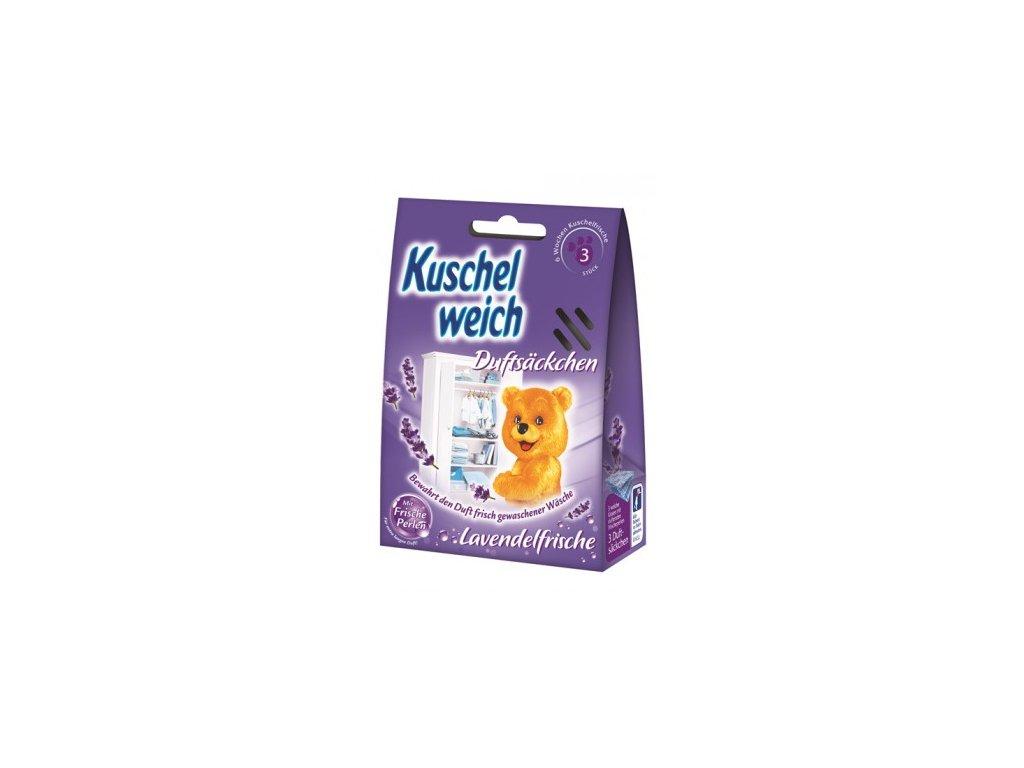 Kuschelweich Lavendelfrische vonné sáčky do skříně 3 ks  - originál z Německa