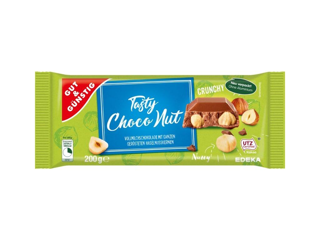 G&G Smetanová čokoláda s celými lískovými ořechy, 200g