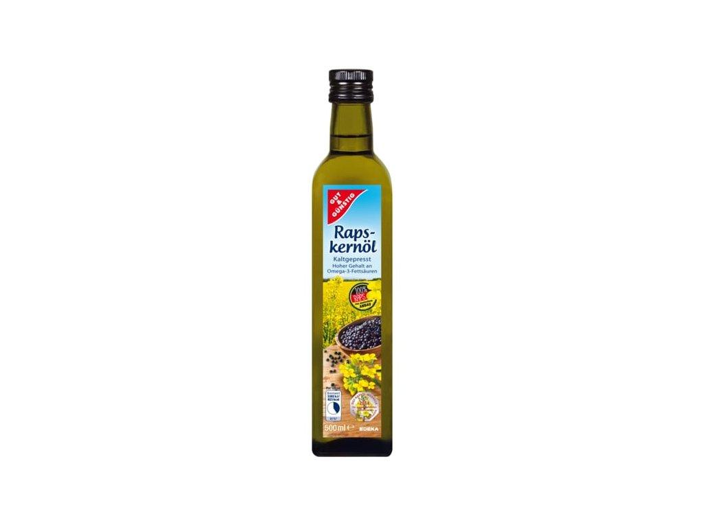 G&G Řepkový olej, panenský, za studena lisovaný 0,5l