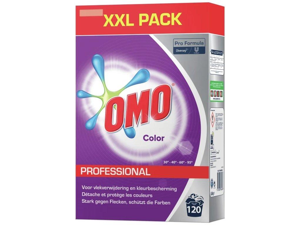 Omo Professional Color prášek na barevné prádlo 8,4 kg, 120 dávek
