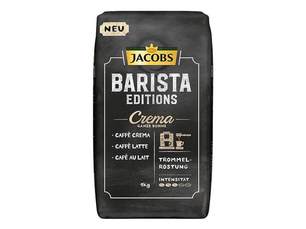 Jacobs Barista Caffe Crema, zrnková káva 1kg  - originál z Německa