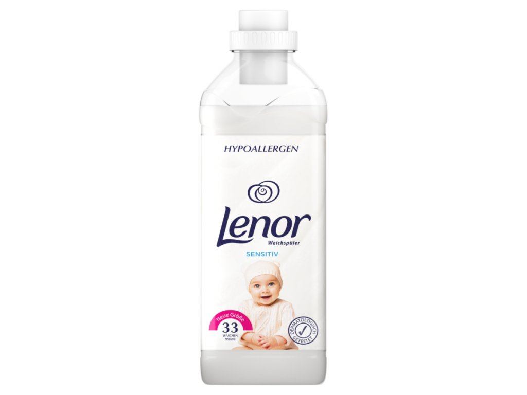 Lenor Pure care Sensitive aviváž 990 ml, 33 dávek