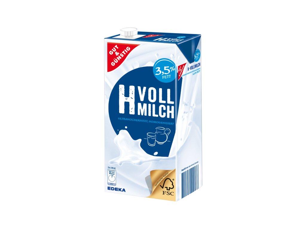 G&G Trvanlivé plnotučné mléko 3,5%  1L  - originál z Německa