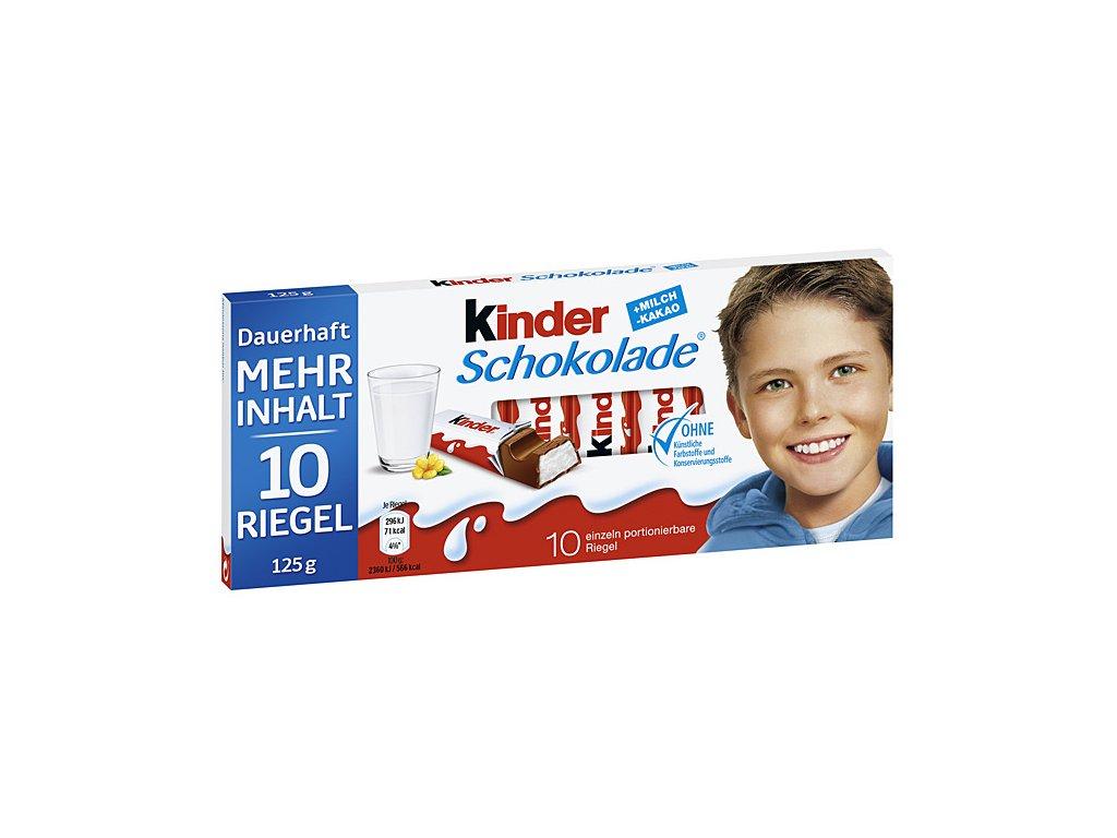 Ferrero Kinder čokoláda, 10ks 125g  - originál z Německa
