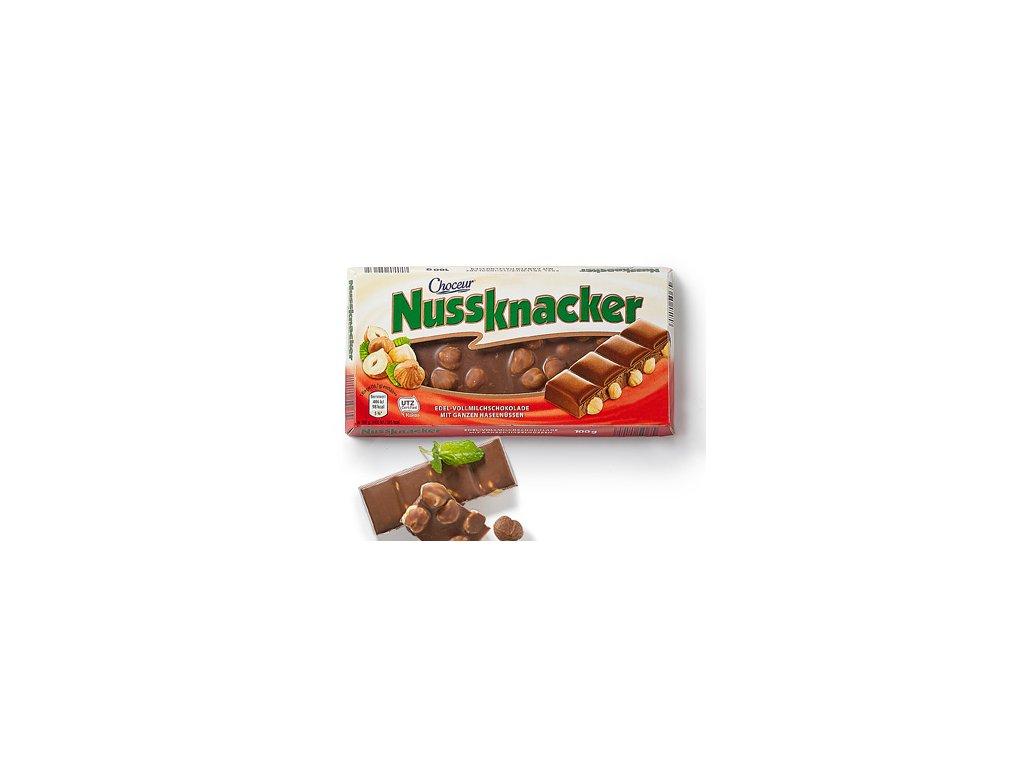 Choceur Nussknacker mléčná čokoláda s lískovými ořechy 100g  - originál z Německa